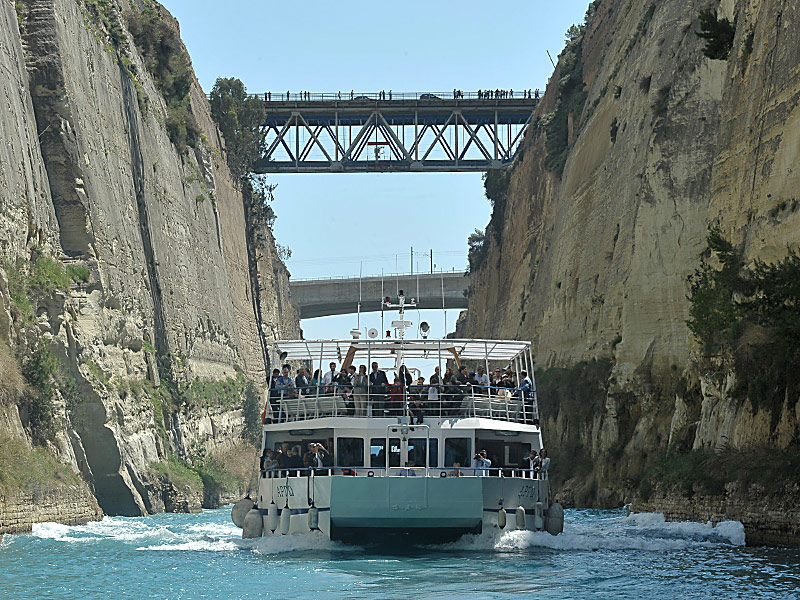 Crossing Corinth Canal